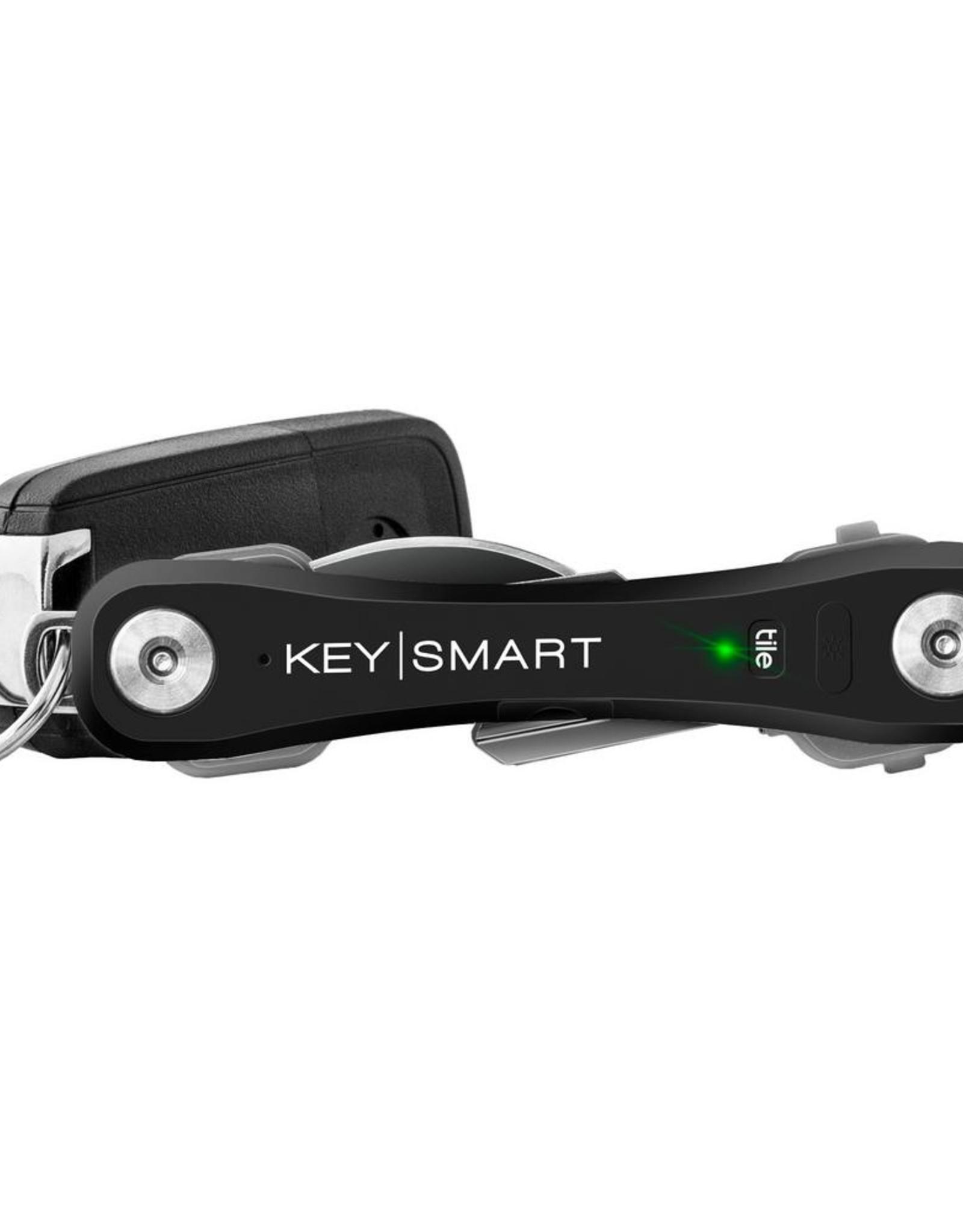 KEYSMART PRO COMPACT KEY HOLDER WITH TILE SMART LOCATION-BLACK KS411-BLK
