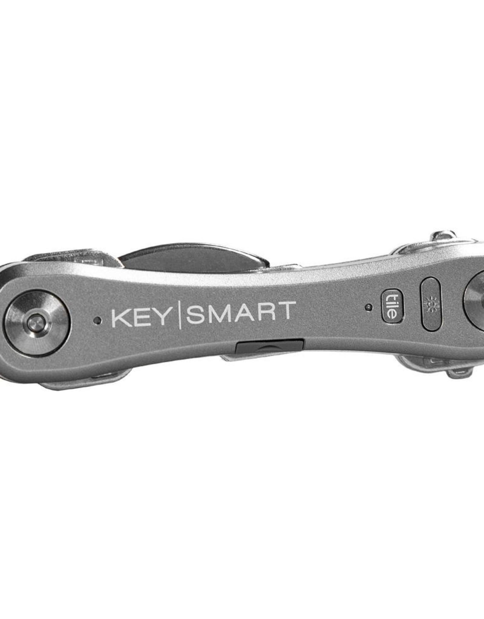 KEYSMART PRO COMPACT KEY HOLDER WITH TILE SMART LOCATION-SLATE KS411-SLT