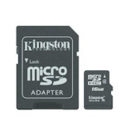 Kingston Kingston | 16 GB microSDHC Flash Memory Card SDCS Black 150-1502