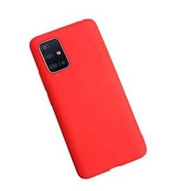 Samsung Samsung | Typoskin Silicone Galaxy A71 Red 120-2972