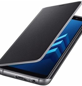 Samsung Samsung - Neon Flip Cover Folio Case Black for Samsung Galaxy A8 (2018) 120-0303