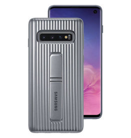 Samsung Samsung Protective Standing Cover Galaxy S10 Silver 120-1381