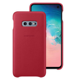 Samsung Samsung Galaxy S10e OEM Red Leather Cover
