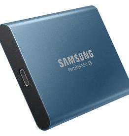 Samsung SO Samsung |T5 500 GB Portable Solid State Drive - External - Blue - USB 3.1 - 540 MB/s MU-PA500B/AM