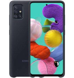 Samsung Samsung Galaxy A71 Black OEM Silicone Cover Case 15-07127