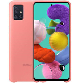 Samsung Samsung Galaxy A71 Pink OEM Silicone Cover Case 15-07129