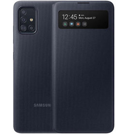 Samsung Samsung Galaxy A71 Black OEM View Wallet Cover Case 15-07130