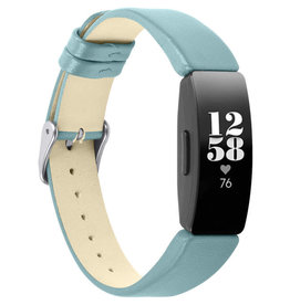Strapsco | SMOOTH LEATHER BAND FOR FITBIT INSPIRE & INSPIRE HR Teal FB.L32.5