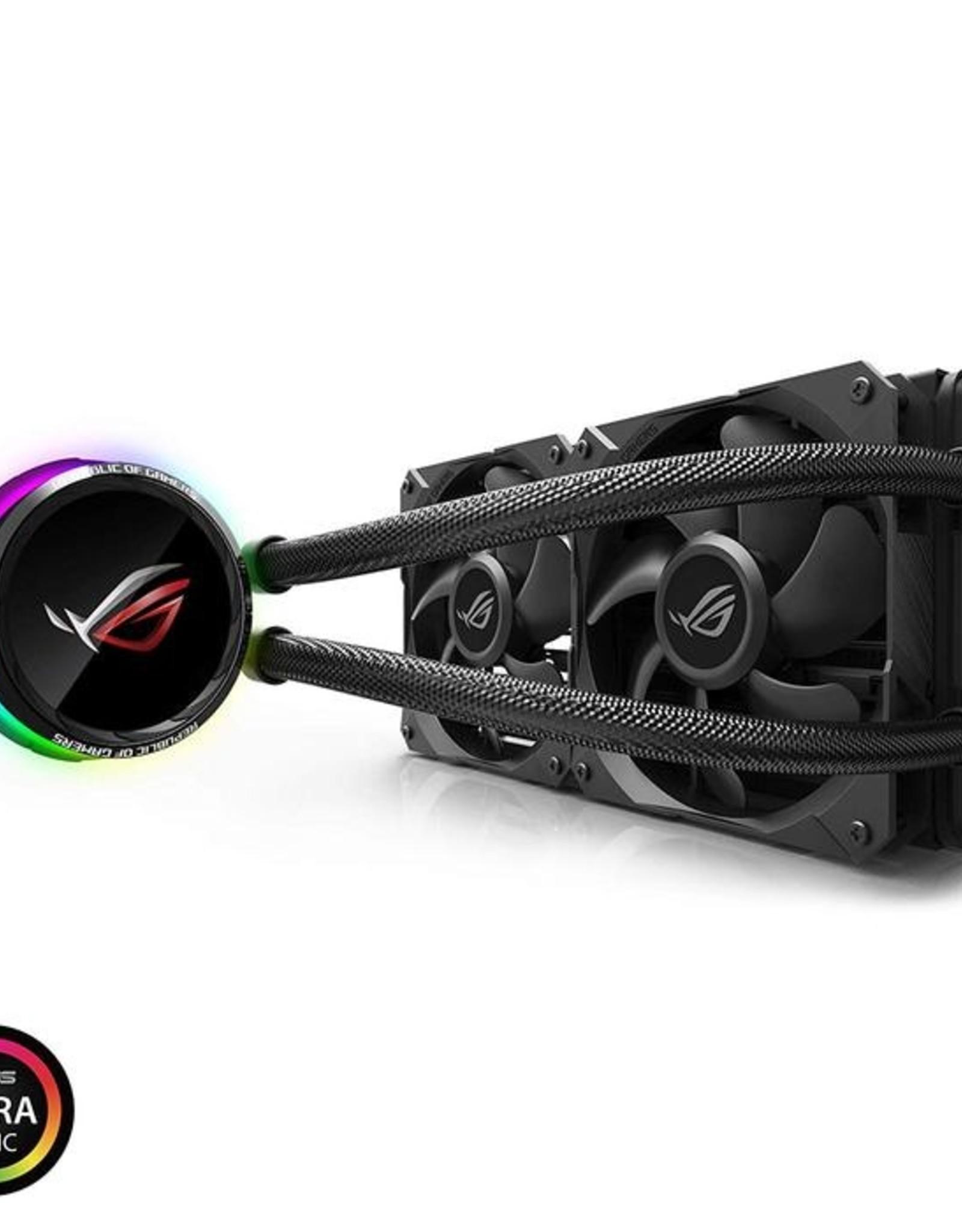 Asus ASUS Fan ROG RYUO 120 AIO liquid CPU cooler color OLED Aura Sync RGB 120mm Fan Retail 221658