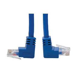 Tripp-Lite Cat6 Gigabit Molded Patch Cable (RJ45 Right Angle Down M to RJ45 M) - Blue, 5-ft. N204-005-BL-DN