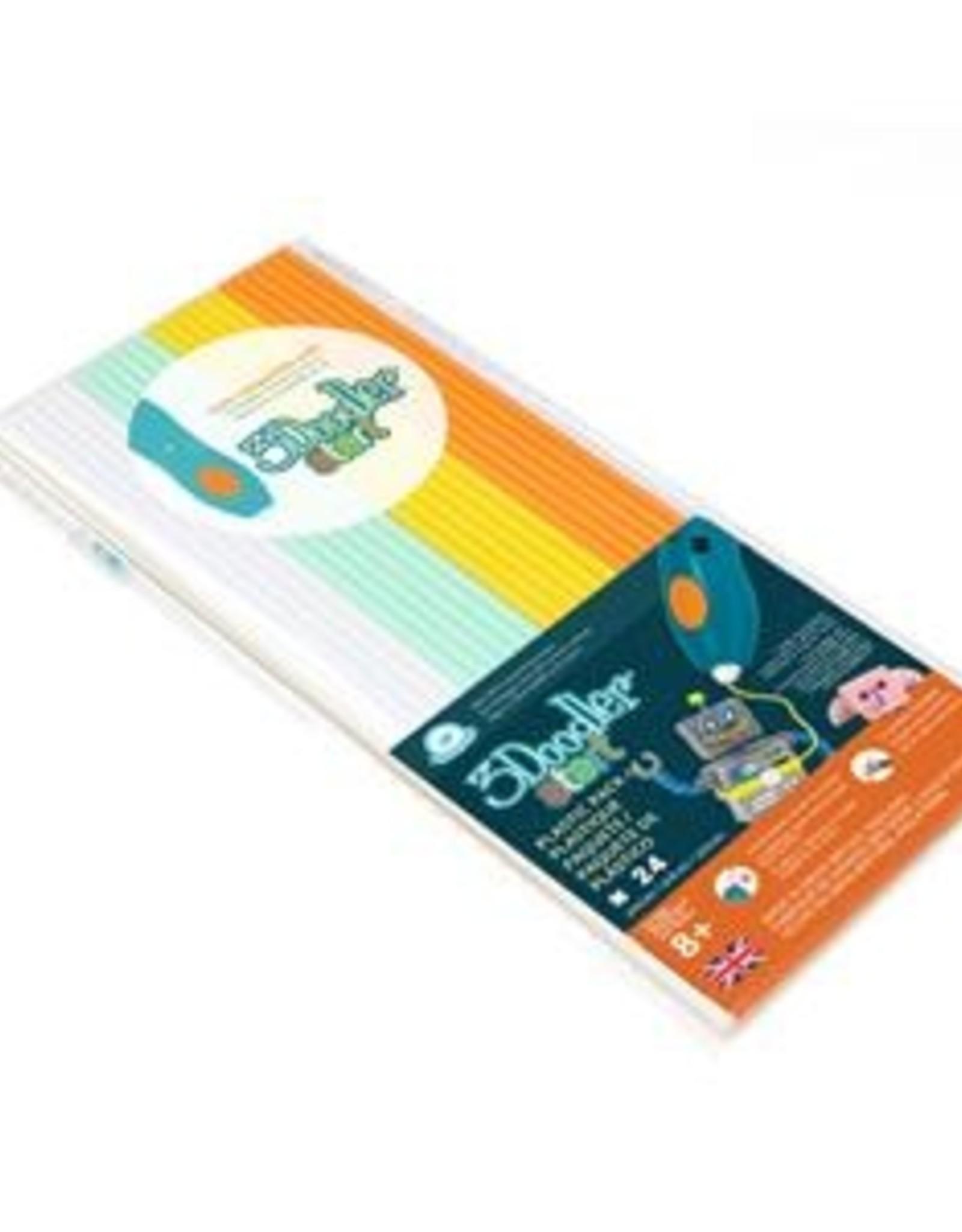 3Doodler Start EcoPlastic 100pc - Fire,Ice (Wht,Aqu,Yel,Org) 3DSECOMIX124100