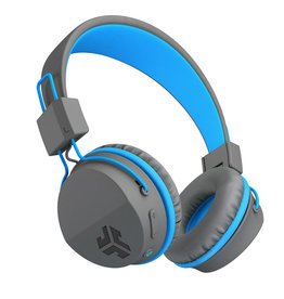 JLab Audio - Neon Bluetooth Wireless On-Ear Headphones Blue/Grey 105-1485