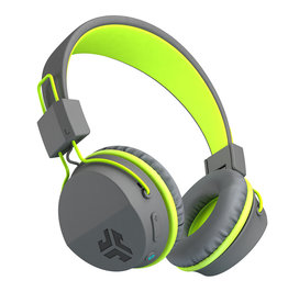 JLab Audio - Neon Bluetooth Wireless On-Ear Headphones Gray/Green 105-1486