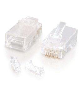 C2G (Cables To Go) C2G RJ45 CAT5E MOD PLUG RND SLD/STRND 10PK 27572