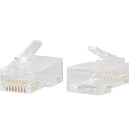 C2G (Cables To Go) C2G RJ45 CAT6 MODULAR PLUG FOR ROUND SOLID/STRANDED CABLE MULTIPACK (100 PACK) 00890