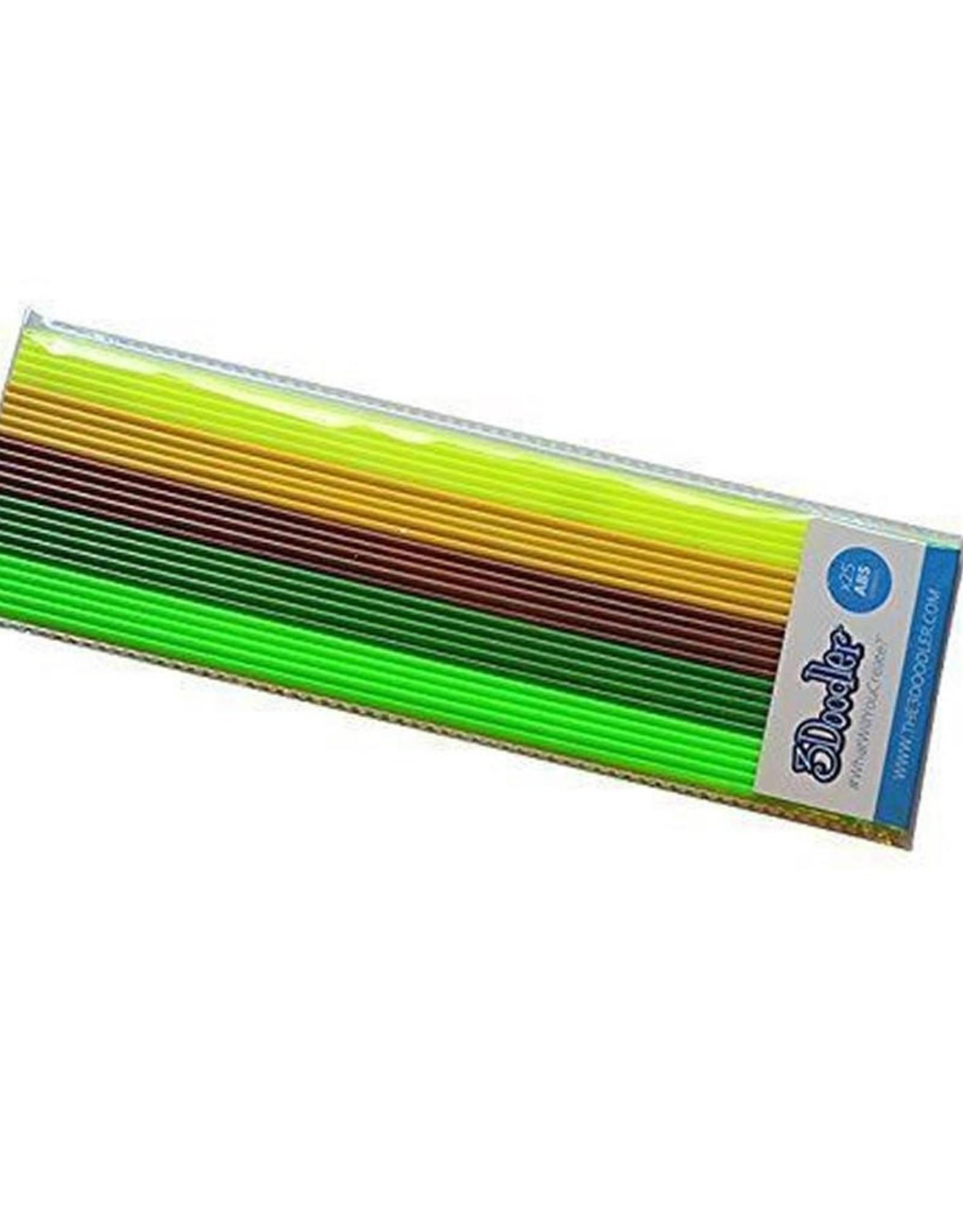 3Doodler ABS Plastic 25pc - Jungle (Grn,Grn,Brwn,Yel,Yel)