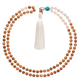 Bellabeat | Rose Gold (Love) Mala Smart Bead Necklace For Use With Leaf Urban And Leaf Chakra 15-04956