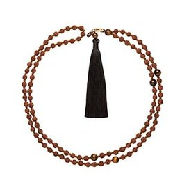 Bellabeat Brown (Prosperity) Mala Smart Bead Necklace For Use With Leaf Urban And Leaf Chakra 15-04957