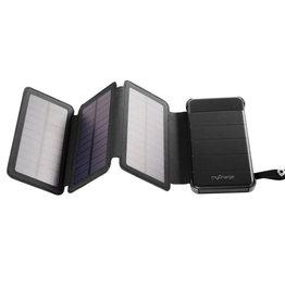 myCharge   Adventure Solar Powerfold Portable Battery 8000 mAh Black 109-1464