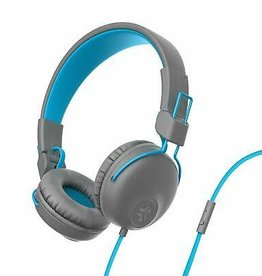 JLab Audio - Studio On-Ear Headphone Gray/Blue 106-1359