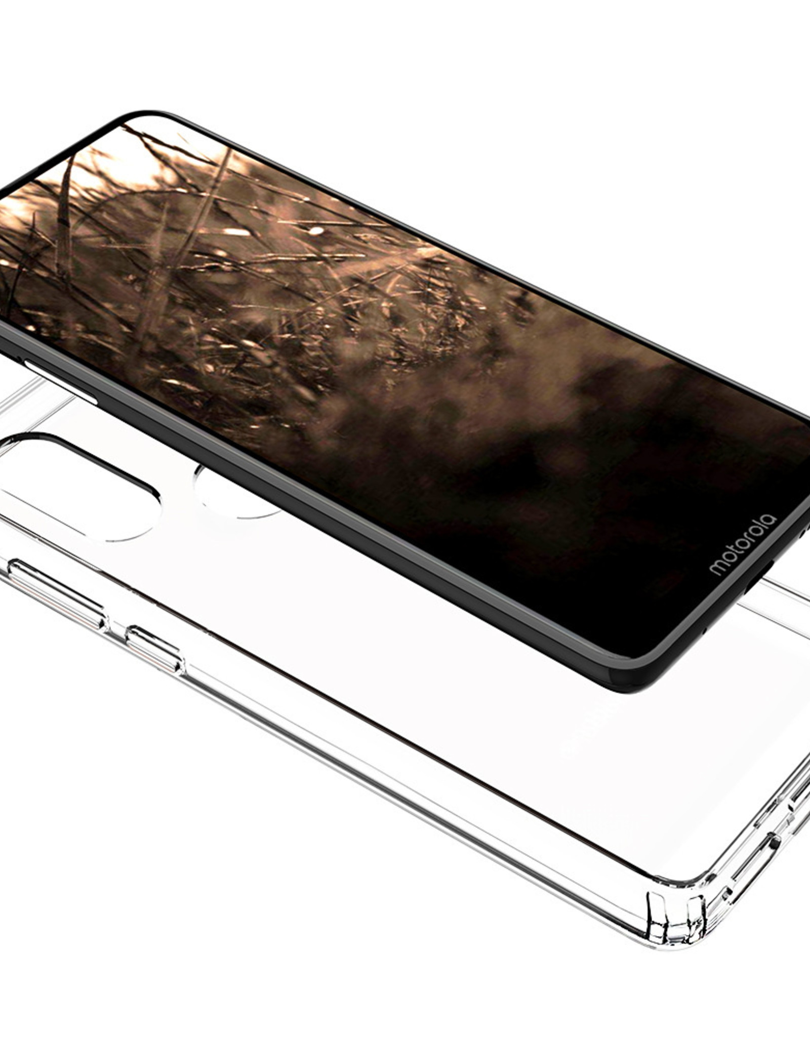 Blu Element Blu Element | DropZone Rugged Case Clear for Motorola Moto One Action 120-3019