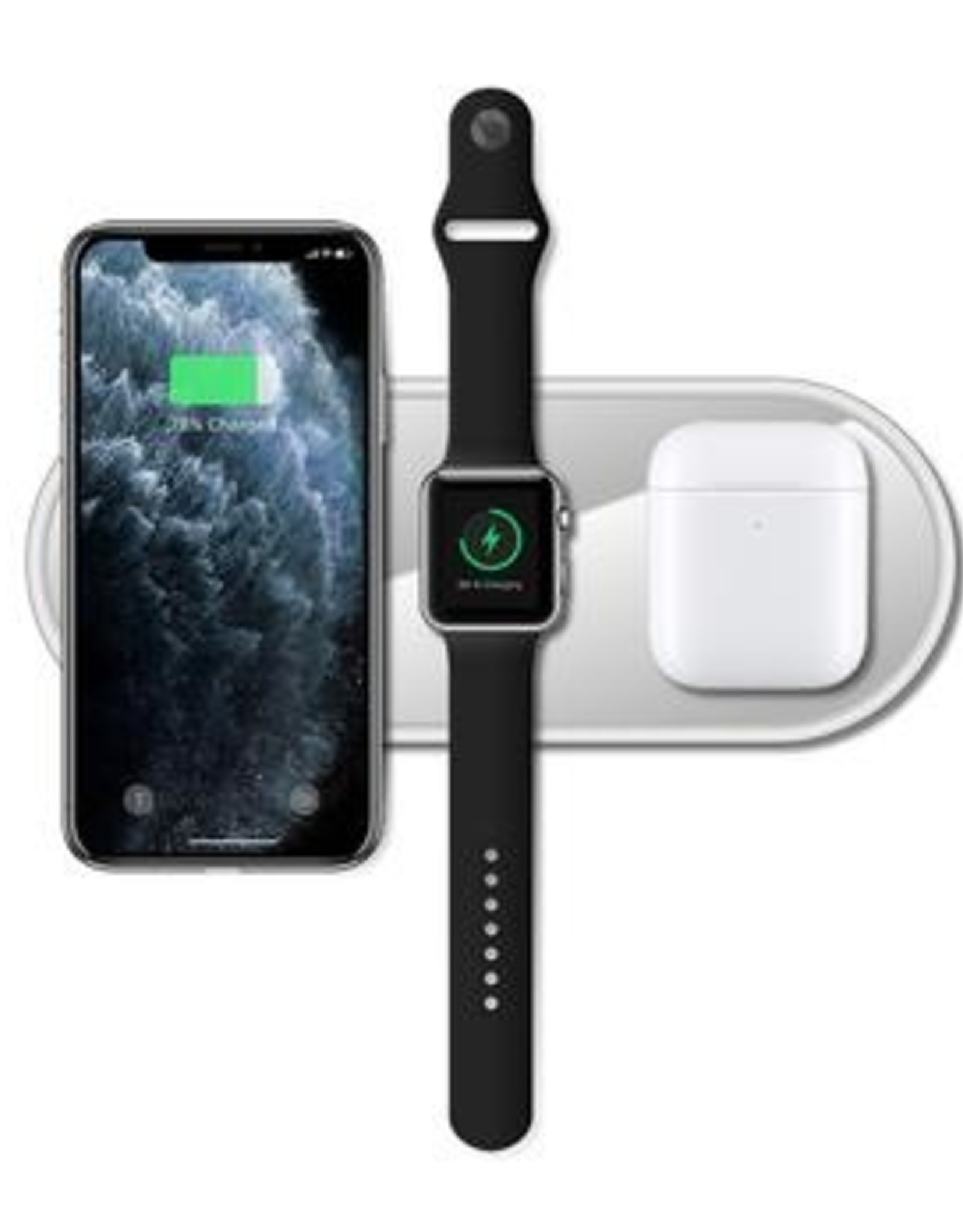 Rockstone | 3-In-1 Fast Wireless Charger White RK-3-1-WC-WH