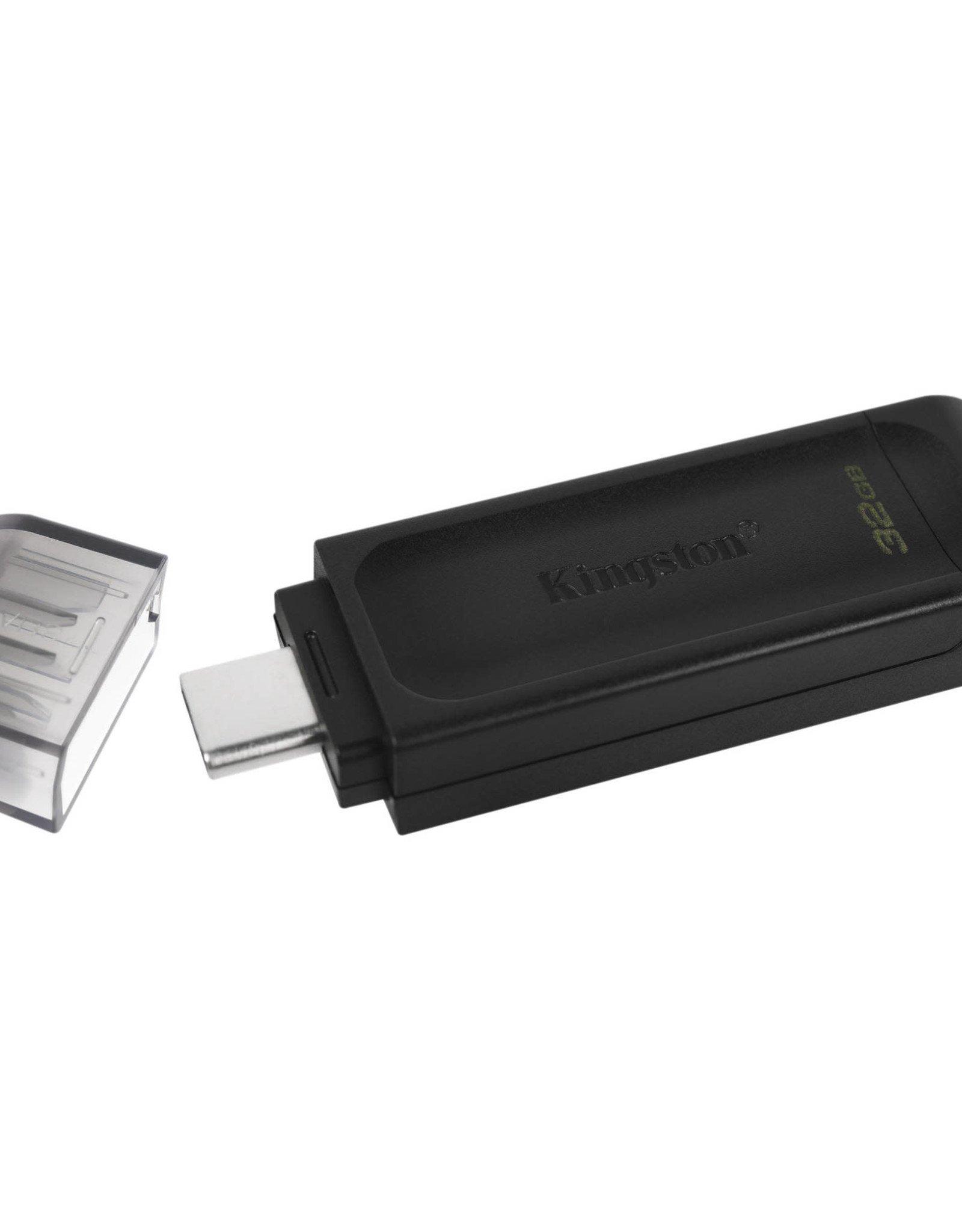 Kingston Kingston | 32GB USB-C 3.2 Gen 1 DataTraveler 70 DT70/32GBCR