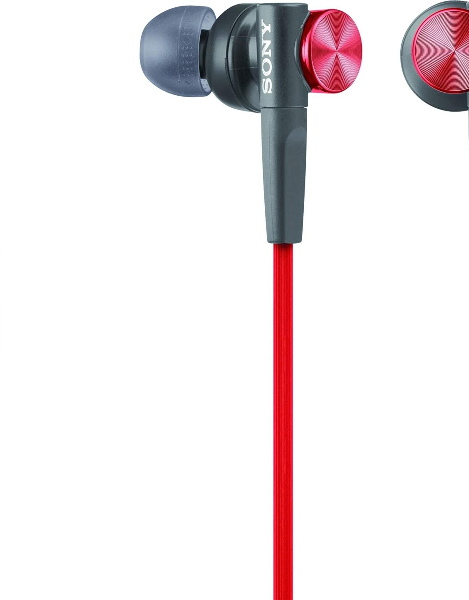Sony SO - Sony | In-ear Extra Bass Earbud Headphones (Red) | MDRXB50AP/R
