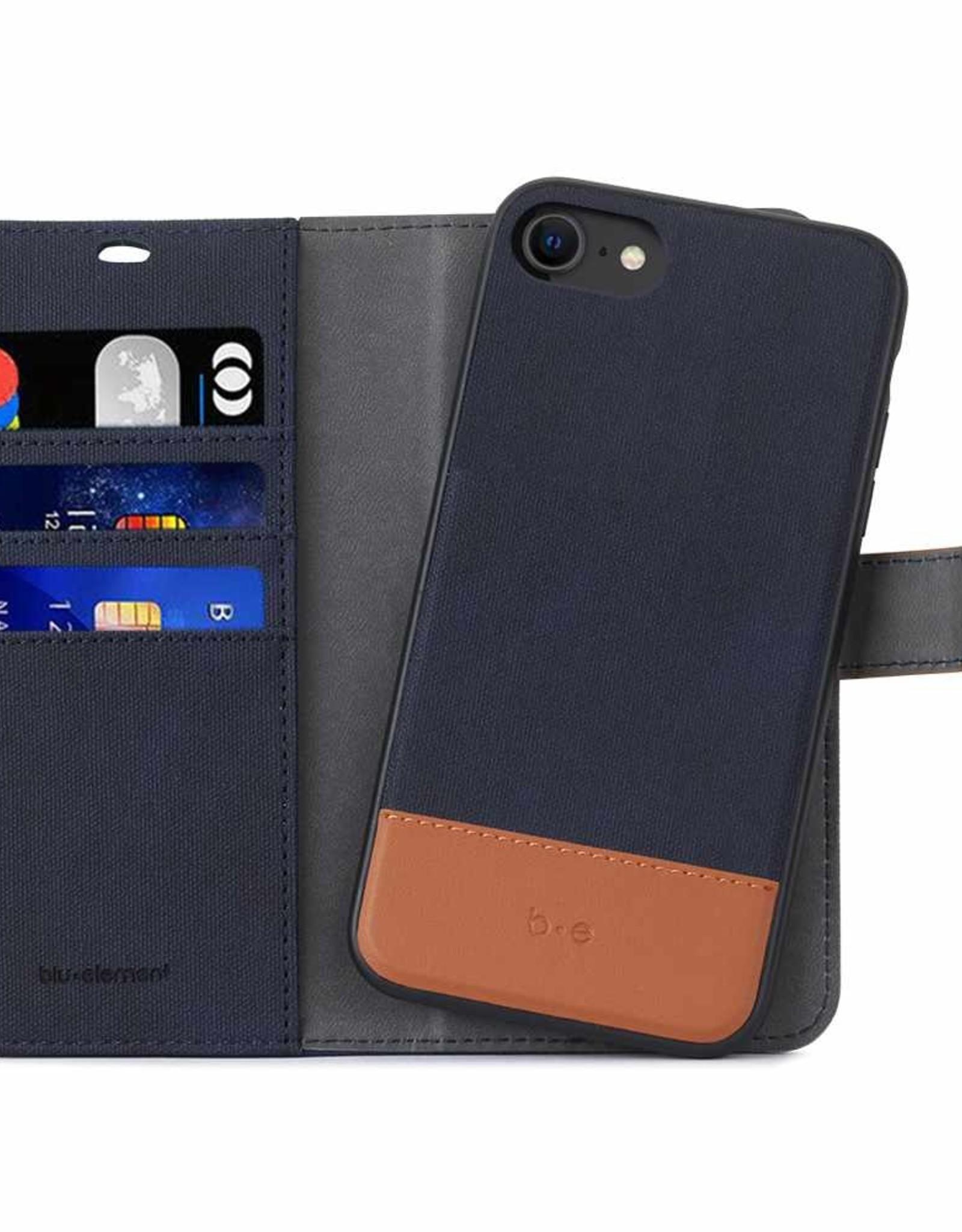 Blu Element Blu Element - 2 in 1 Folio Case Navy/Tan for iPhone SE 2020/8/7 120-2909