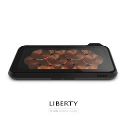 ZENS Liberty 16 coil Dual Wireless Charger - Glass ZEDC09G/00