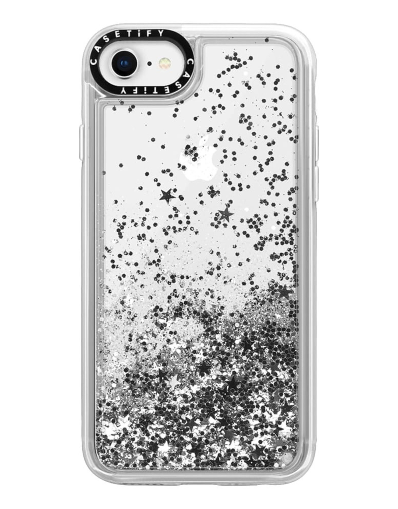 Casetify Casetify - Glitter Case Monochrome Silver for iPhone SE 2020/8/7/6 120-3158