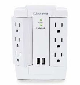 Cyber Power CyberPower | Surge Protector 1200J/125V 6 Swivel Outlets 2 USB CSP600WSURC2