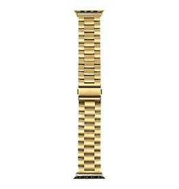 Strapsco | SOLID STAINLESS STEEL BAND FOR APPLE WATCH 44mm Yellow Gold | A.M1.YG.44