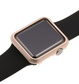 SO Strapsco | ALLOY METAL PROTECTIVE CASE FOR APPLE WATCH 42MM Rose Gold | A.PC5.RG.42
