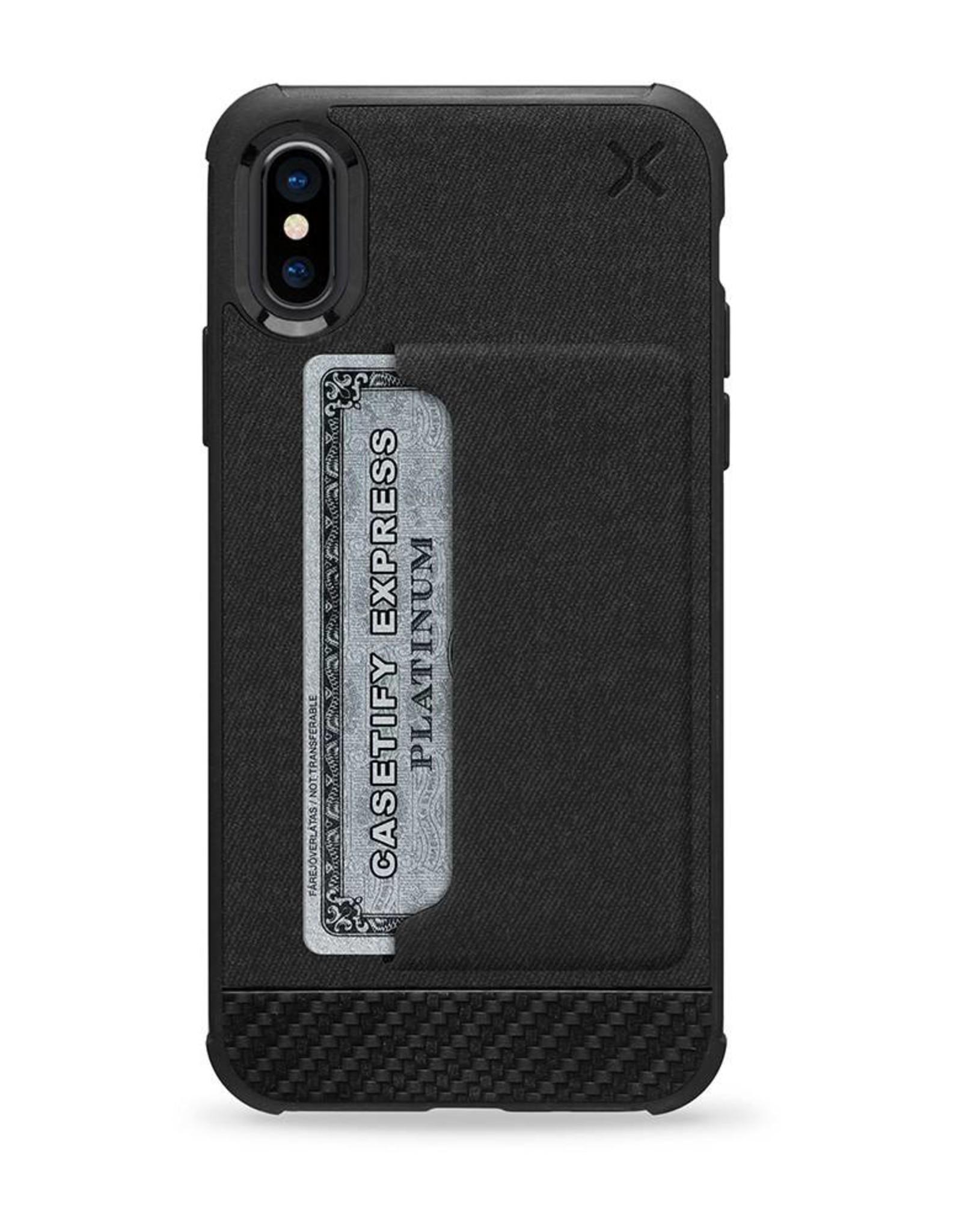 Casetify /// Casetify | iPhone X/Xs Essential Woven Pocket Case Matte Black | 120-0580