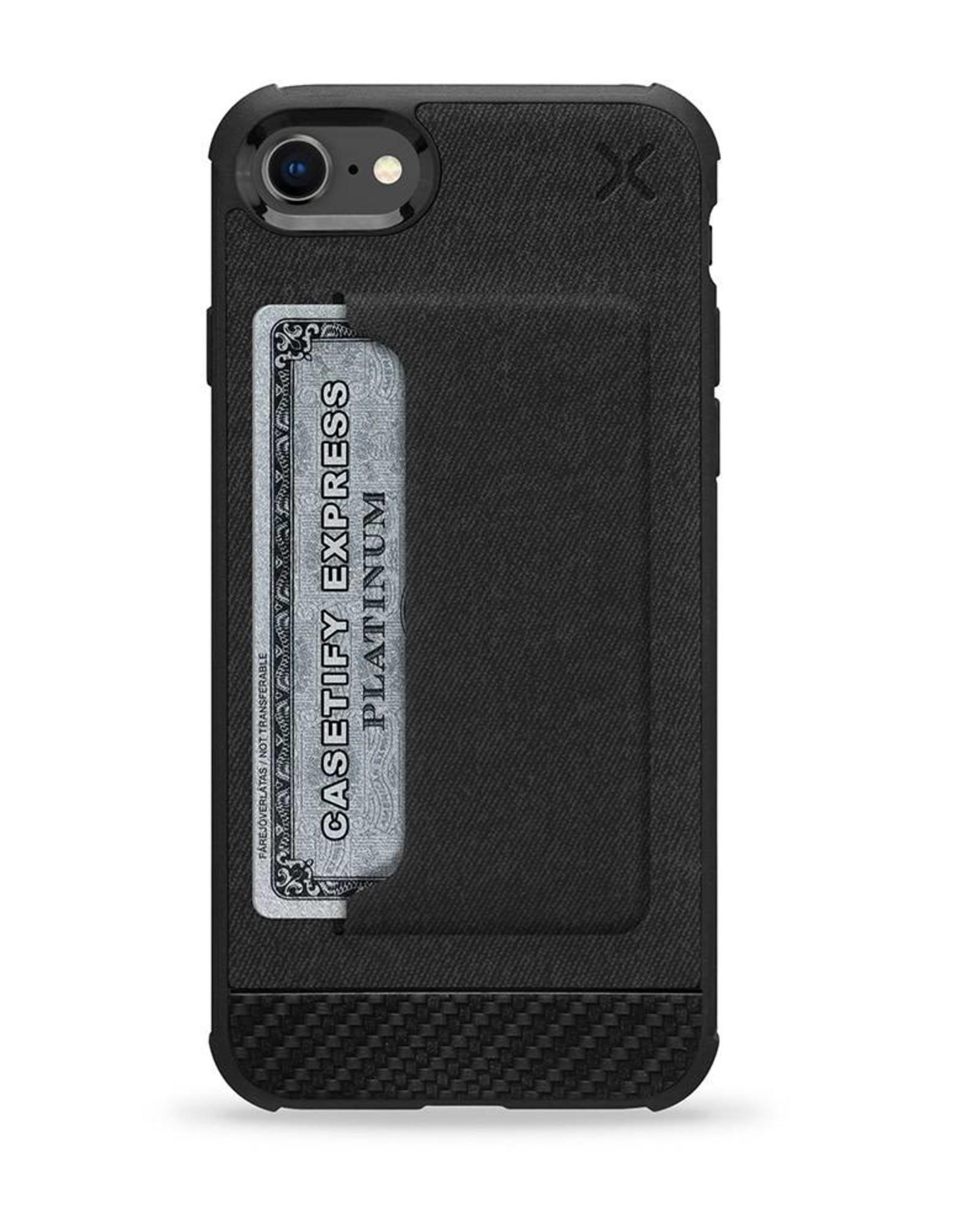 Casetify /// Casetify   iPhone 8/7/6/6s X Essential Woven Pocket Case Matte Black   120-0579