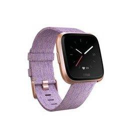 Fitbit Fitbit Versa SE, Rose Gold Aluminum Case w/Purple Woven Band FB505RGLVCALA