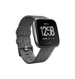 Fitbit Fitbit Versa SE, Black Aluminum Case w/ Charcoal Woven Band FB505BKGYCALA