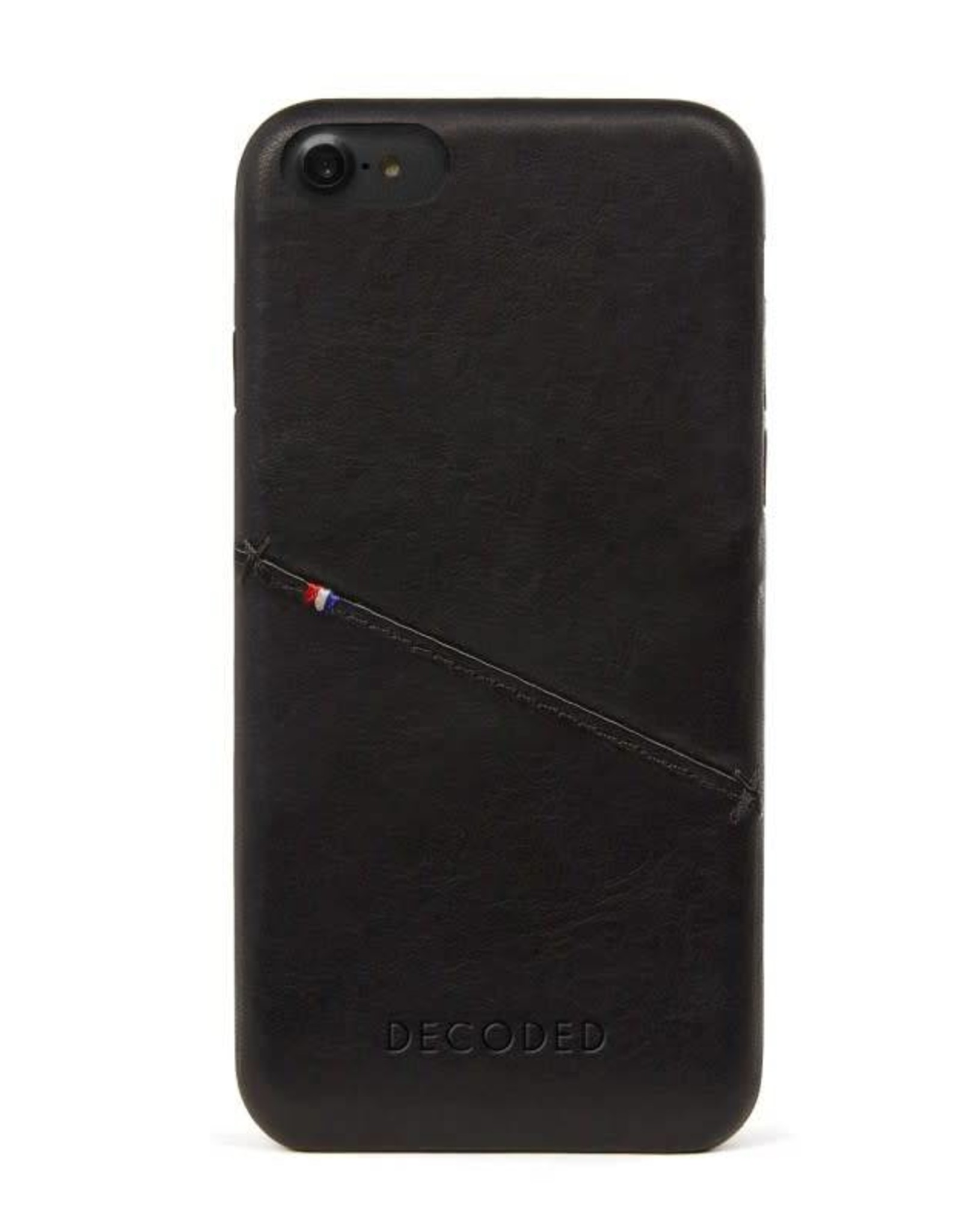 Decoded | iPhone 8/7/6/6s Leather Back Cover Black |  DC-D6IPO7BC3BK