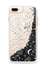 Casetify /// Casetify | iPhone 8/7/6/6s Glitter Case Sun Moon Stars Galaxy (Black) | 120-0581