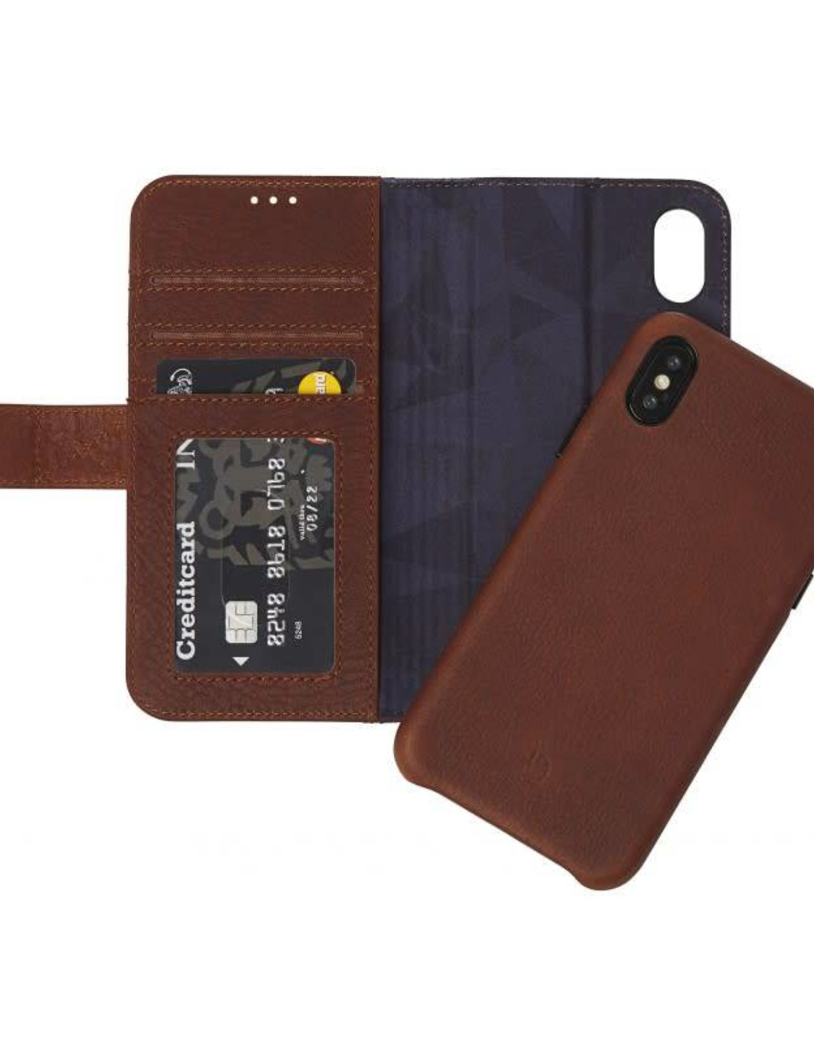 /// Decoded | iPhone X/Xs 2-in-1 Leather Wallet - Cinnamon Brown | DC-D8IPOXWC7CBN