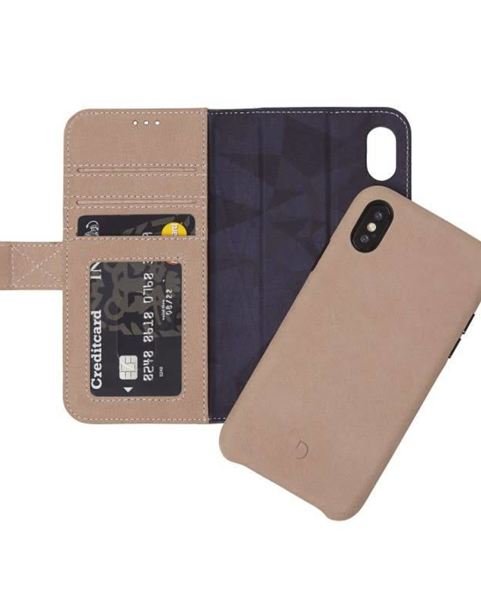 Decoded | iPhone X/Xs 2-in-1 Leather Wallet Natural | DC-D7IPOXWC5NL