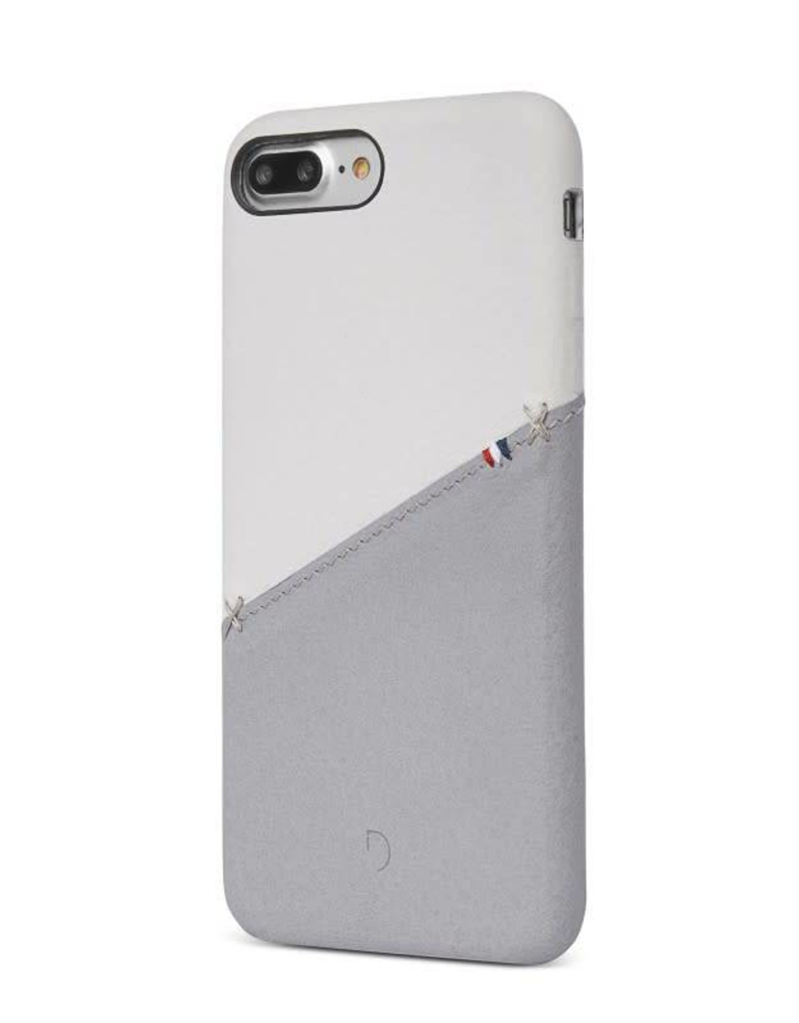 Decoded | iPhone 8/7/6/6s+ Leather Snap White/Gray | DC-DA6IPO7PLSO1WEGY