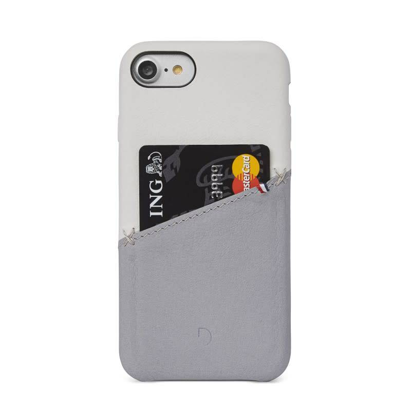 Decoded Decoded | iPhone 8/7/6/6s Leather Snap White/Gray | DC-DA6IPO7SO1WEGY