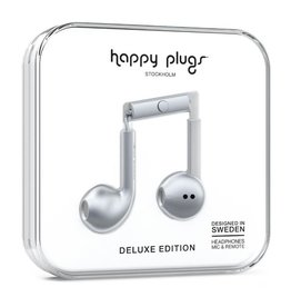 Happy Plugs Happy Plugs | Metallic Silver Deluxe Edition Headphones | 14153VRP