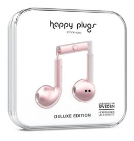 Happy Plugs Happy Plugs | Metallic Pink Deluxe Edition Headphones | 17482VRP
