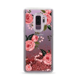 Casetify Casetify | Samsung Galaxy S9+ Glitter Case Pink Floral Roses (Pink) | 120-0944