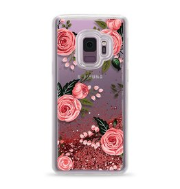Casetify /// Casetify | Samsung Galaxy S9 Glitter Case Pink Floral Roses (Pink) | 120-0936