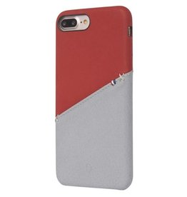 Decoded Decoded   iPhone 8/7/6/6s+ Leather Snap On Red/Grey   DC-DA6IPO7PLSO1RDGY