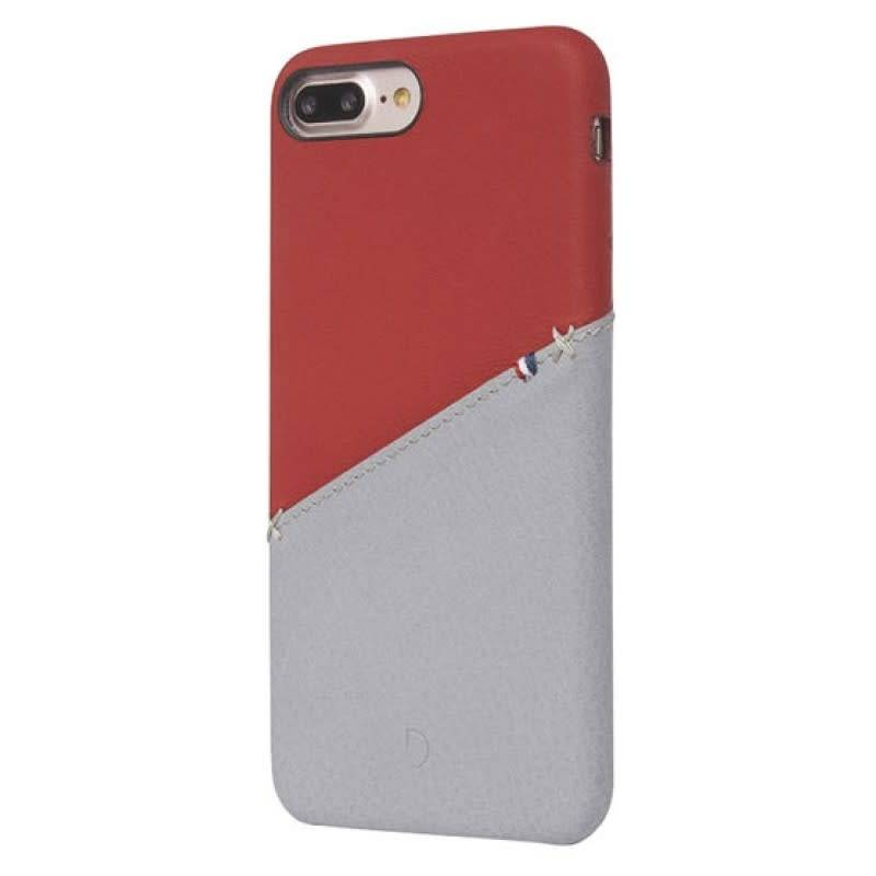 Decoded Decoded | iPhone 8/7/6/6s+ Leather Snap On Red/Grey | DC-DA6IPO7PLSO1RDGY